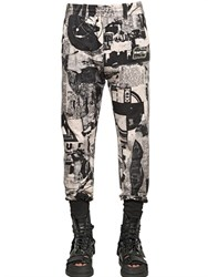Ktz Burnt Newspaper Cotton Jogging Pants