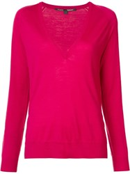 Proenza Schouler V Neck Jumper Pink Purple