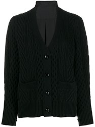 Sacai V Neck Cardigan Black