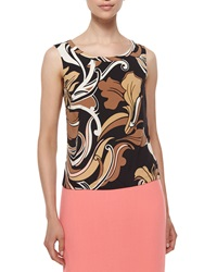 Escada Swing Floral Print Tank Black