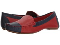 French Sole Allure Red Navy Pebble Leather Shoes