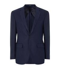 Polo Ralph Lauren Linen Herringbone Blazer Male Navy