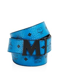 Mcm Claus Matte Buckle Belt Munich Blue