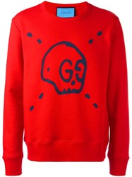 Gucci Ghost Sweatshirt Red