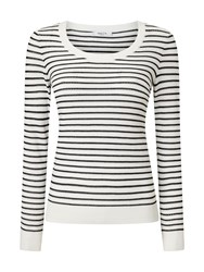 Precis Petite Alexa Stripe Pointelle Jumper Multi Coloured Multi Coloured