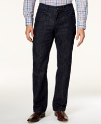 Alfani Black Jackson Straight Leg Dark Blue Wash Jeans Only At Macy's