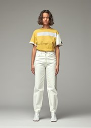 Eckhaus Latta 'S Lapped Oversized T Shirt In Atmospheric Screen Print Top Size Xs
