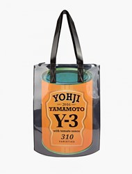 Y 3 Black Can' Zip Tote Bag