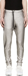 11 By Boris Bidjan Saberi Silver Sweatpants