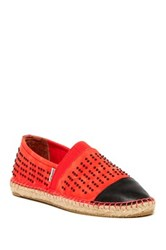 Joy And Mario Whitehaven Studded Cap Toe Espadrille Red