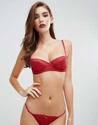 Coco De Mer 50 Shades Darker Collection Red Room Balcony Bra Bordeaux Red