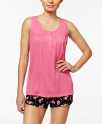 Charter Club Tank Top And Boxer Shorts Mix It Pajama Set Only At Macy's Tropical Floral