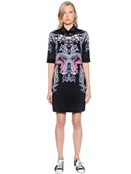 Gaowei Xinzhan Printed Neoprene Dress And Flocked Collar