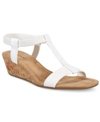 Alfani Women's Voyage Wedge Sandals Only At Macy's Women's Shoes White