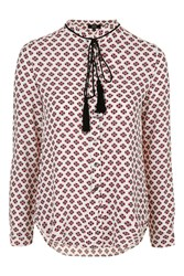 Beyond Silence Moroccan Print Blouse By Goldie Black