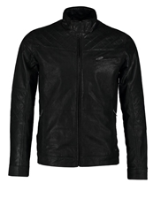Solid Marat Leather Jacket Black