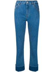 Fay Slim Turn Up Jeans Blue