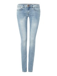 Guess Jean Jegging In Sun Shaded Denim Mid Wash