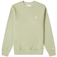 Calvin Klein Essential Logo Crew Sweat Green