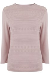 Warehouse Pretty Stitch Crew Jumper Light Pink