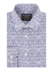 Howick Men's Tailored Daniels Floral Print Shirt Navy
