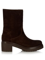 Moncler Cassandre Ankle Boots Dark Brown
