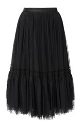 Needle And Thread Black Lace Tulle Skirt