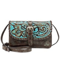 Patricia Nash Turquoise Tooled Torri Mini Crossbody