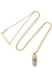 Cornelia Webb Charmed Gold Plated Marble Necklace One Size