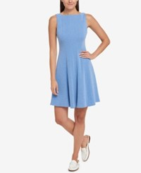 Tommy Hilfiger Fit And Flare Dress Created For Macy's Blueberry