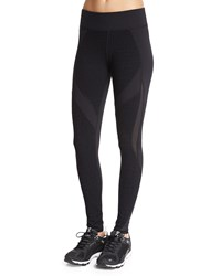 Michi Thalia Textured Sport Leggings Black Black Croc Black
