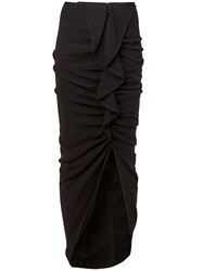 Givenchy Long Gathered Skirt Black