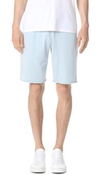 Reigning Champ Lightweight Terry Raw Edge Shorts Sky Blue