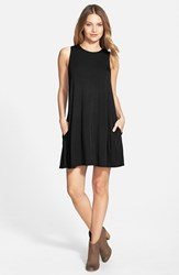 Women's Socialite High Neck Dress Black