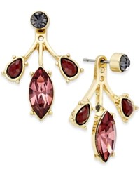 Inc International Concepts Gold Tone Triple Crystal Earring Jackets Only At Macy's