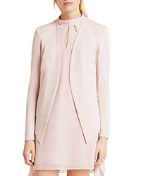 Bcbgeneration Open Front Blazer Rose Smoke