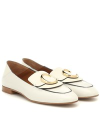 Chloe C Leather Loafers White