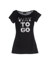 Duck Farm Topwear T Shirts Women Black