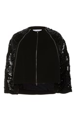 Dice Kayek Cropped Sequin Jacket Black