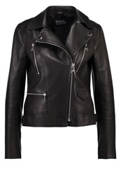 Karl Lagerfeld Ikonik Odina Leather Jacket Black