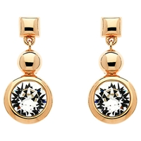 Finesse Rose Gold Plated Swarovski Crystal Circle Drop Earrings Rose Gold