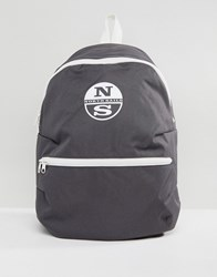 North Sails Logo Backpack In Grey Lead 0950