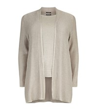 Marina Rinaldi Lurex Knitted Twin Set Female Neutral
