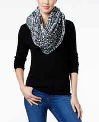 Charter Club Velvety Marled Chenille Infinity Loop Scarf Only At Macy's Black White