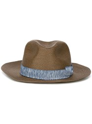 Eleventy Panama Hat Brown