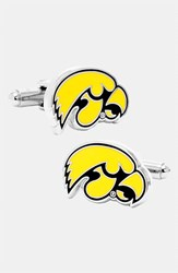 Ravi Ratan Men's Cufflinks Inc. 'University Of Iowa Hawkeyes' Cuff Links Yellow Black