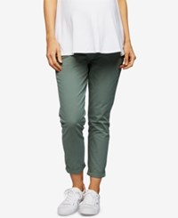A Pea In The Pod Maternity Under Belly Jogger Pants Green