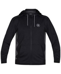 Hurley Men's Disperse Zip Up Hoodie Black