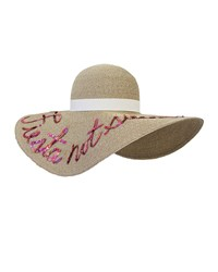 Eugenia Kim Bunny Embroidered Sun Hat Sand Pink Brown Pink Size M 22.5'