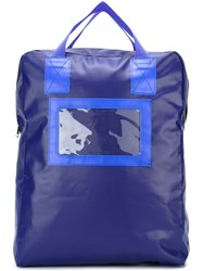 Comme Des Garcons Shirt Rectangular Backpack Blue